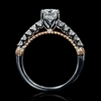 .35ct Diamond Antique Style 18k Two Tone Gold Engagement Ring Setting