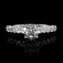 Diamond Antique Style 18k Two Tone Gold Engagement Ring Setting