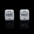 1.74ct Diamond 18k White Gold Cluster Earrings