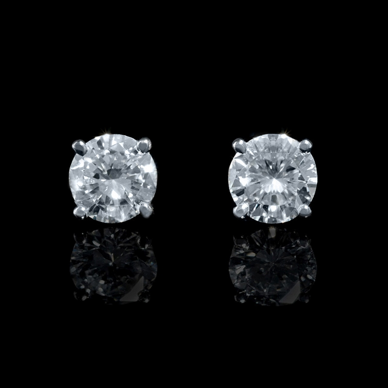 igi certified product diamond white gold stud solid in natural