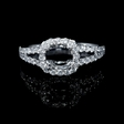 .72ct Diamond 18k White Gold Split Shank Halo Engagement Ring Setting