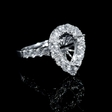 1.53ct Diamond 18k White Gold Halo Engagement Ring Setting