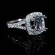 1.06ct Diamond 18k White Gold Split Shank Halo Engagement Ring Setting