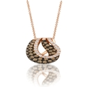 Le Vian Chocolatier Diamond 14k Strawberry Gold Gladiator Weave Pendant