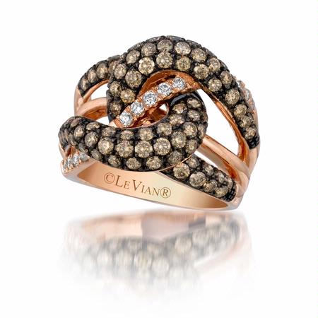 Le Vian Chocolatier Diamond 14k Strawberry Gold Gladiator Weave Ring