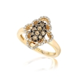 .56ct Le Vian Chocolatier Diamond 14k Honey Gold Framed Clusters Ring