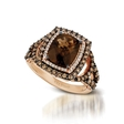.90ct Le Vian Chocolatier Diamond and Chocolate Quartz 14k Strawberry Gold Ring