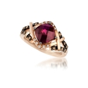 Le Vian Chocolatier Diamond and Raspberry Rhodolite 14k Strawberry Gold Ring