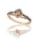 Le Vian Petite Chocolate Diamond 14k Strawberry Gold Ring
