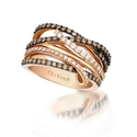 Le Vian Chocolatier Diamond 14k Strawberry Gold Gladiator Ring