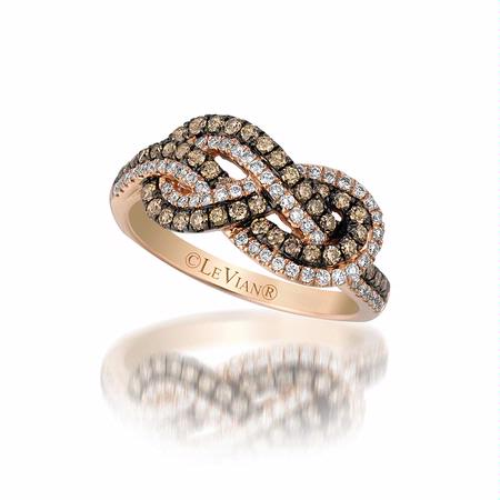 Le Vian Chocolatier Diamond 14k Strawberry Gold Gladiator Knots Ring