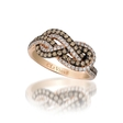.67ct Le Vian Chocolatier Diamond 14k Strawberry Gold Gladiator Knots Ring