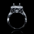 1.59ct Diamond 18k White Gold Halo Engagement Ring Setting