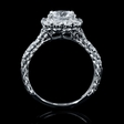 1.11ct Diamond 18k White Gold Halo Engagement Ring Setting