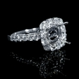 1.31ct Diamond Antique Style 18k White Gold Halo Engagement Ring Setting