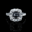1.62ct Diamond 18k White Gold Halo Engagement Ring Setting