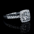 .50ct Diamond 18k White Gold Halo Engagement Ring Setting