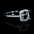 .32ct Diamond 18k White Gold Halo Engagement Ring Setting