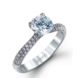 .42ct Simon G Diamond 18k White Gold Engagement Ring Setting