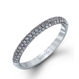 .30ct Simon G Diamond 18k White Gold Wedding Band Ring