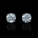 Diamond 1.40 Carats 18k White Gold Stud Earrings