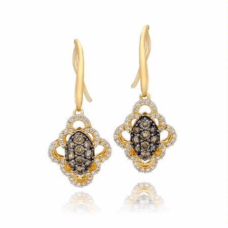 Le Vian Chocolatier Diamond 14k Honey Gold Earrings
