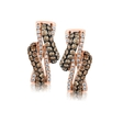 .84ct Le Vian Chocolatier Diamond 14k Strawberry Gold Earrings