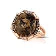 .18ct Le Vian Chocolatier Diamond and Chocolate Quartz 14k Strawberry Gold Ring