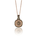 Le Vian Chocolatier Diamond 14k Strawberry Gold Pendant Necklace