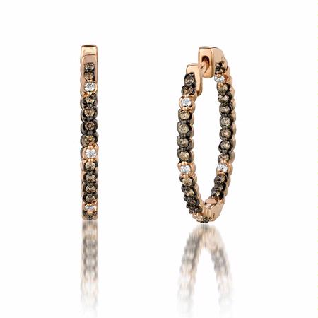 Le Vian Chocolatier Diamond 14k Strawberry Gold Hoop Earrings