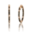.71ct Le Vian Chocolatier Diamond 14k Strawberry Gold Hoop Earrings