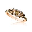 .62ct Le Vian Chocolatier Diamond 14k Strawberry Gold Ring