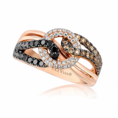 Le Vian Exotics Diamond 14k Strawberry Gold Ring