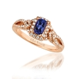.34ct Le Vian Diamond and Blueberry Tanzanite 14k Strawberry Gold Ring