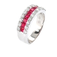 .72ct Diamond and Ruby 18k White Gold Wedding Band Ring