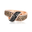 1.34ct Le Vian Exotics Diamond 14k Strawberry Gold Ring