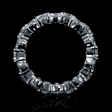 5.89ct Diamond 18k White Gold Eternity Wedding Band Ring