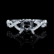 .23ct Diamond 18k White Gold Engagement Ring Setting