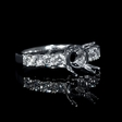 .71ct Diamond 18k White Gold Engagement Ring Setting