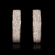 10.49ct Diamond 18k Rose Gold Hoop Earrings