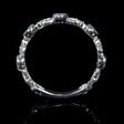 .43ct Diamond Antique Style 18k White Gold Ring