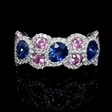 .46ct Diamond and Sapphire 18k White Gold Ring