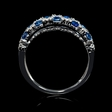 .22ct Diamond and Blue Sapphire 18k White Gold Ring