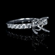 .52ct Diamond 18k White Gold Engagement Ring Setting