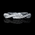 Diamond 18k White Gold Wedding Ring Band Ring