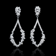 1.43ct Diamond 18k White Gold Dangle Earrings