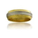 Platinum and 18k Yellow Gold Wedding Band Ring