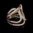 1.83ct Diamond 18k Three Tone Gold Ring