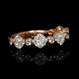 .74ct Diamond 18k Rose Gold Ring