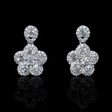 1.50ct Diamond 18k White Gold Dangle Earrings